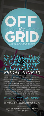 Off The Grid Art Crawl 2011 - Sep 17th @ the fifty fifty arts collective