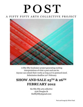 POST a fifty fifty fundraiser project - Sep 25th @ the fifty fifty arts collective