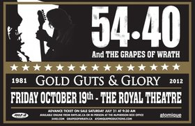 54-40, Grapes Of Wrath @ Royal Theatre Oct 19 2012 - Oct 18th @ Royal Theatre