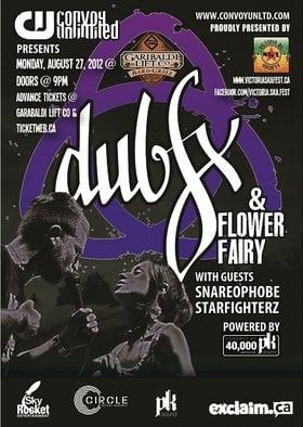 DUB FX & FLOWER FAIRY bring drum n' bass, dub and LOVE to GARIBALDI LIFT & CO IN WHISTLER BC!: DUB FX, Flower Fairy, Snareophobe , Starfighterz @ Garibaldi Lift Co. Bar & Grill Aug 27 2012 - Sep 26th @ Garibaldi Lift Co. Bar & Grill