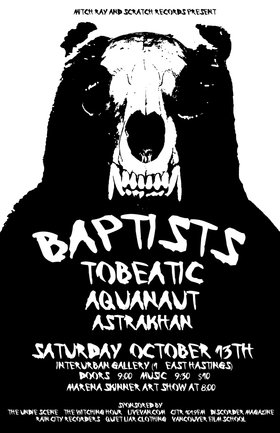 Baptists , TOBEATIC, aquanaut, Astrakhan @ Interurban Gallery Oct 13 2012 - Apr 2nd @ Interurban Gallery