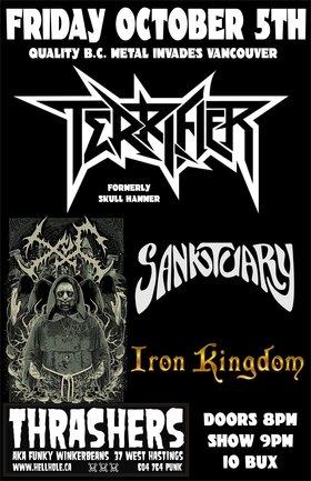 Terrifier, SANKTUARY, XUL, Iron Kingdom @ Funky Winker Beans Oct 5 2012 - Jun 4th @ Funky Winker Beans