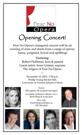 Anne Grimm, Robert Holliston, Neil Reimer, Jennifer Lang, Amy Steggles , Adam Dyjach @ Phillip T. Young Recital Hall (Uvic) Nov 10 2012 - Sep 19th @ Phillip T. Young Recital Hall (Uvic)