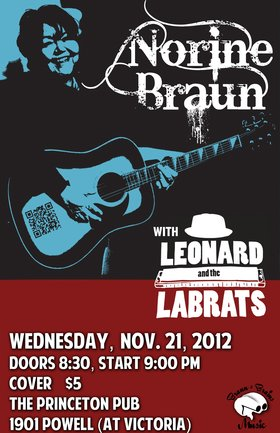 Norine Braun, Norine Braun, Leonard and the Lab Rats @ Princeton Pub Nov 21 2012 - Dec 7th @ Princeton Pub