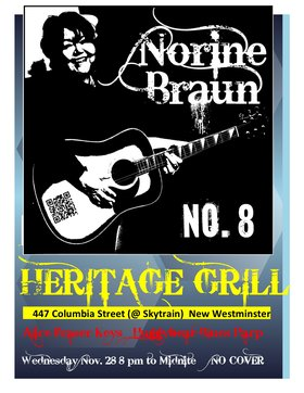Norine Braun @ The Heritage Grill Nov 28 2012 - Dec 7th @ The Heritage Grill