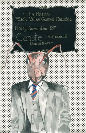 The Mants, Black Valley Gospel, MANATEE @ Cenote Nov 16 2012 - Mar 31st @ Cenote