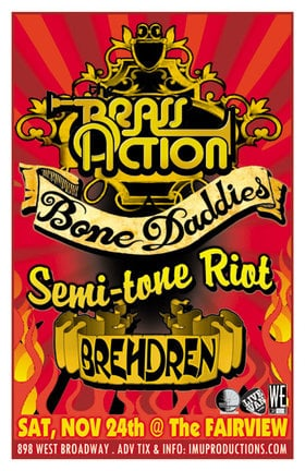 THIS SATURDAY! SKA-DANCE PARTY MADNESS!: The Brass Action, Bone Daddies, Semi-Tone Riot , Brehdren @ Fairview Pub Nov 24 2012 - Apr 19th @ Fairview Pub
