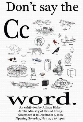 Don't Say the C Word : Allison Blake - Oct 24th @
