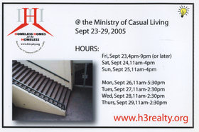 Homeless Homes for the Homeless - Oct 26th @