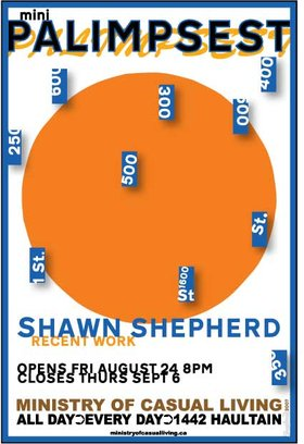 Shawn Sheperd : Mini Palimpsest - Oct 26th @