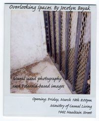 Jocelyn Beyak : Mural-sized photography and Polaroid-based images - Oct 26th @