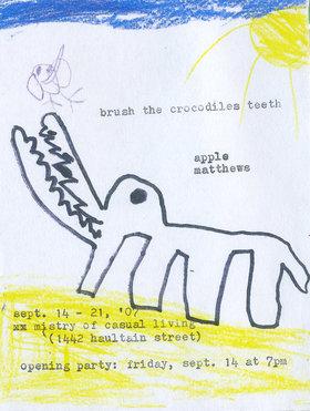 Apple Matthews : Brush the Crocodiles Teeth - Oct 26th @
