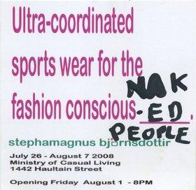 Stephanie Bjornson : Ultra Coordinated Sportswear for the fashion conscious _______. - Oct 24th @