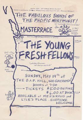 The Young Fresh Fellows @ O.A.P. Hall May 19 1985 - Feb 24th @ O.A.P. Hall