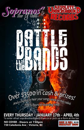 Battle of the Bands: 40 Acres OF Rust, Secondhand Habit @ Soprano's Feb 14 2013 - May 29th @ Soprano's
