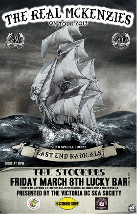 St. Paddy's Day Tour & CD Release: The Real McKenzies, East End Radicals, The Stockers @ Lucky Bar Mar 8 2013 - Oct 23rd @ Lucky Bar