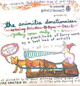 the Animilia Donationaiser - Oct 26th @ 1442 Haultain Street