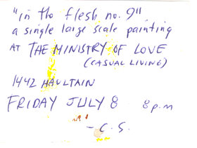 Chris Shoust : In The Flesh no. 9 - Oct 26th @ Ministry of Casual Living