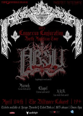 Mythological Occult Black Metal Legends ABSU!: Absu, Auroch, Terrifier, XUL @ The Biltmore Cabaret Apr 24 2013 - Jun 4th @ The Biltmore Cabaret