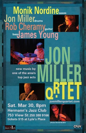 Jon Miller Quartet: Jon Miller Quartet @ Hermann's Jazz Club Mar 30 2013 - Apr 19th @ Hermann's Jazz Club