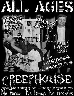 The Likely Rads, Blood Nasty, the Grey Army, T_B_A @ Creephouse Apr 30 2006 - Nov 29th @ Creephouse