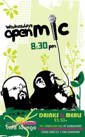 Open Mic @ Ocean Island Lounge May 29 2013 - Mar 28th @ Ocean Island Lounge
