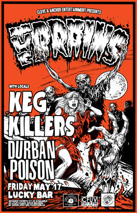 The Brains: Monster Within Tour: The Brains, The Keg Killers, Durban Poison @ Lucky Bar May 17 2013 - Oct 20th @ Lucky Bar