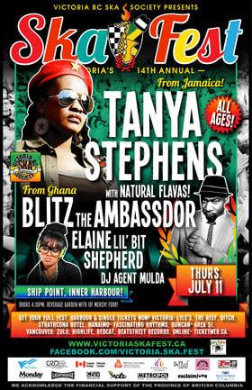 TANYA STEPHENS, Blitz the Ambassador, Elaine Lil' Bit Shepherd @ Ship Point (Inner Harbour) Jul 11 2013 - Sep 26th @ Ship Point (Inner Harbour)