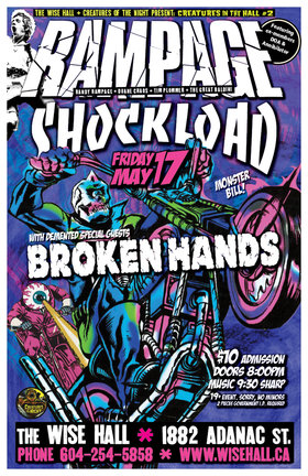 The Return of Randy Rampage: Rampage, Shockload, The Broken Hands @ WISE Hall May 17 2013 - Aug 21st @ WISE Hall