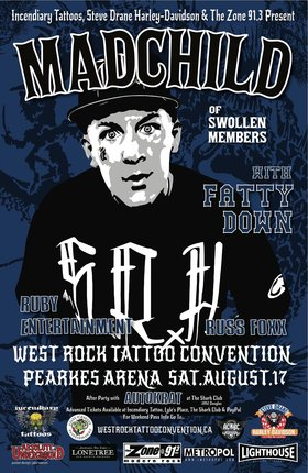 West Rock Tattoo Convention: Madchild, Fatty Down, Ruby Entertainment @ Pearkes Arena Aug 17 2013 - Aug 7th @ Pearkes Arena