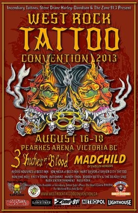 West Rock Tattoo Convention: Bloody Betty, Russ Foxx, Punk Rock Canadian Army @ Pearkes Arena Aug 18 2013 - May 15th @ Pearkes Arena