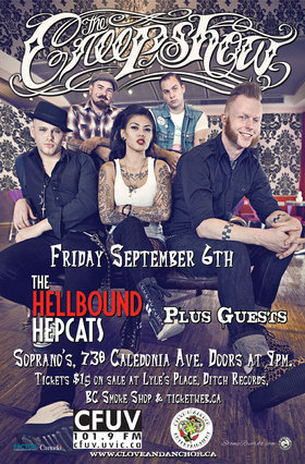 The Creepshow, Hellbound Hepcats, Die Poor @ Soprano's Sep 6 2013 - Mar 6th @ Soprano's