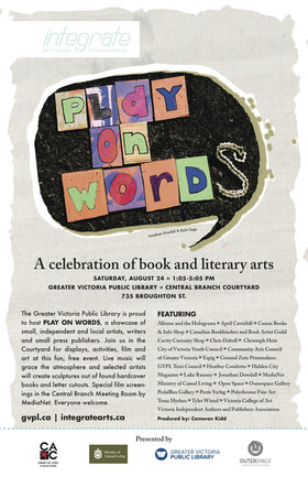 Play On Words - Oct 26th @ Greater Victoria Public Library - Central Branch Courtyard