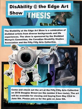 The Canadian Disability Studies Association art showcase - Oct 20th @ the fifty fifty arts collective