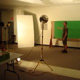 VI Film and Entertainment Cooperative members experiment with lighting equipment