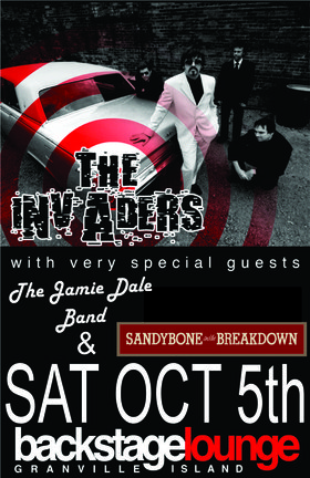 Three great bands!!! Live Show!!!: SandyBone & The BreakDown, The Jamie Dale Band, The Invaders @ Backstage Lounge Oct 5 2013 - Mar 31st @ Backstage Lounge