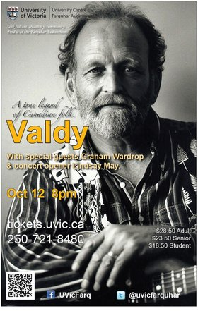 Valdy, Graham Wardrop, Lindsay May @ The Farquhar at UVic Oct 12 2013 - Dec 14th @ The Farquhar at UVic