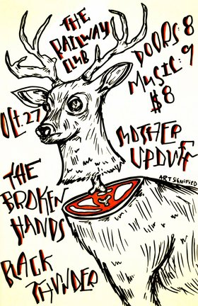 The Broken Hands, Black Thunder (Regina), Mother Upduff, Dead Ranch  (Winnipeg) @ Railway Club Oct 27 2013 - Aug 21st @ Railway Club