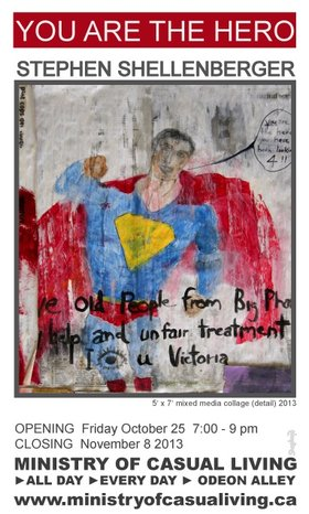 Stephen Shellenberger : You Are The Hero - Oct 26th @ Odeon Alley