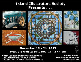 Island Illustrators @ Community Arts Council of the Saanich Peninsula Nov 13 2013 - Apr 1st @ Community Arts Council of the Saanich Peninsula