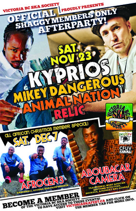 OFFICIAL SHAGGY MEMBER AFTER PARTY w/KYPRIOS, MIKEY DANGEROUS, ANIMAL NATION & RELIC: Kyprios, Mikey Dangerous, Animal Nation, RELIC @ VBCSS HQ Nov 23 2013 - Sep 26th @ VBCSS HQ