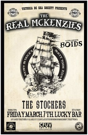 St. Paddy's Day Tour: The Real McKenzies, BOIDS, The Stockers @ Lucky Bar Mar 7 2014 - Sep 26th @ Lucky Bar