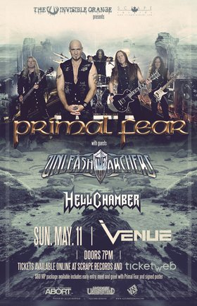 Primal Fear, Unleash The Archers, Hellchamber @ Venue May 11 2014 - Oct 23rd @ Venue