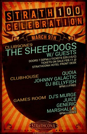 The Sheepdogs (SOLD OUT), with special guests @ Distrikt Mar 9 2014 - Feb 19th @ Distrikt