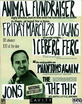 Animal Fundraiser!: Phantoms Again, The This, Jons, Iceberg Ferg @ Logan's Pub Mar 28 2014 - Oct 20th @ Logan's Pub