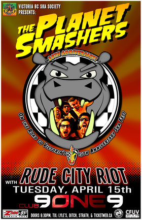 THE PLANET SMASHERS 20TH ANNIVERSARY CONCERT/ON THE ROAD TO SKA FEST 2014: Planet Smashers, Rude City Riot @ Distrikt Apr 15 2014 - Sep 26th @ Distrikt