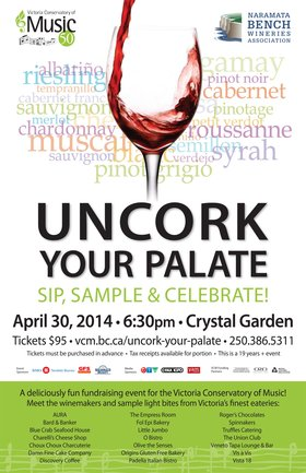 UNCORK YOUR PALATE @ Crystal Garden Apr 30 2014 - Sep 29th @ Crystal Garden