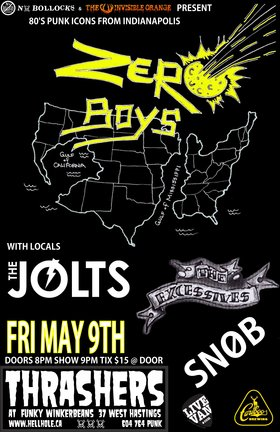 80'S PUNK ICONS FROM INDIANAPOLIS~~: ZERO BOYS, The Jolts, The Excessives, SNOB @ Funky Winker Beans May 9 2014 - Apr 6th @ Funky Winker Beans