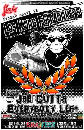 THE RETURN OF LOS KUNG FU MONKEYS (TIJUANA, MEXICO) w/JAH CUTTA & EVERYBODY LEFT! - On the Road to Victoria's 15th Anniversary Ska Festival!: Los Kung Fu Monkeys , Jah Cutta and The Determination Band, Everybody Left @ Lucky Bar Apr 18 2014 - Sep 26th @ Lucky Bar