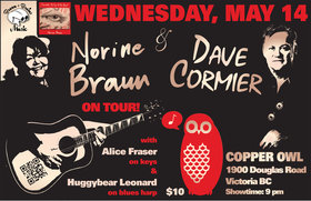 Norine Braun, Dave Cormier @ Copper Owl May 14 2014 - Dec 7th @ Copper Owl